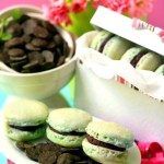 Minty Macs – {Chocolate and Mint Macarons}