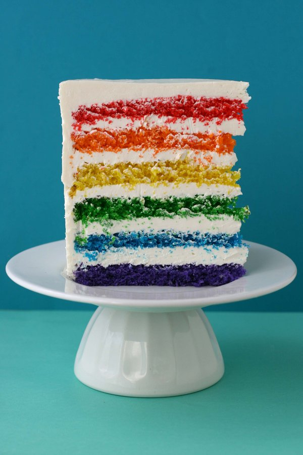 447233405 Say it with Cake - {Super Epic Rainbow Cake} - Whisk Kid