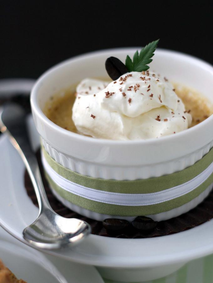 Contrast – {Pistachio Biscotti and Coffee Pots De Creme}