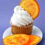 Clean – {Orange Cupcakes with Candied Orange Garnish}