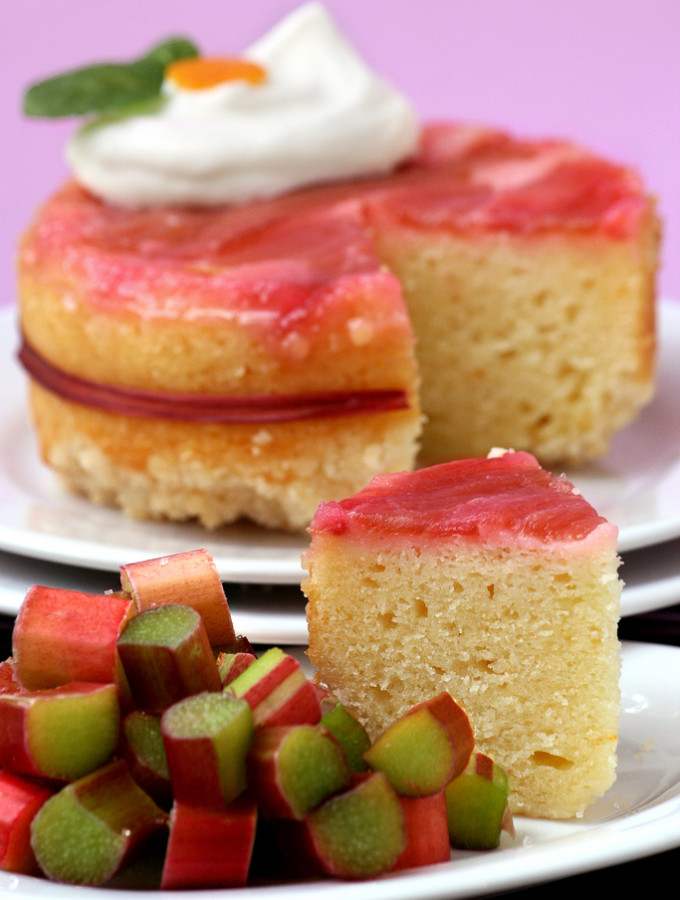 Calm – {Rhubarb Upside-Down Cake}