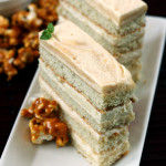 Settle – {Caramel Apple Mousse Cake with Caramel Corn}