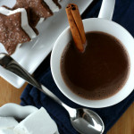 Solitary – {Chocolate and Almond Marshmallow Sandwich Cookies with Hot Chocolate}