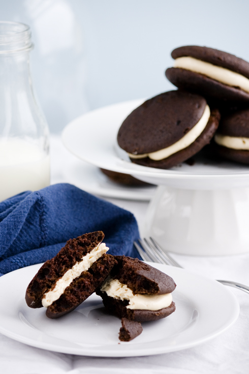 Work – {Chocolate and Salted Caramel Whoopie Pies}