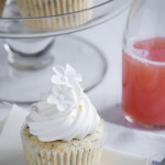 Fit – {Grapefruit Poppy Seed Cupcakes with Strawberry Rhubarb Jam and Cream Cheese Swiss Meringue Buttercream}