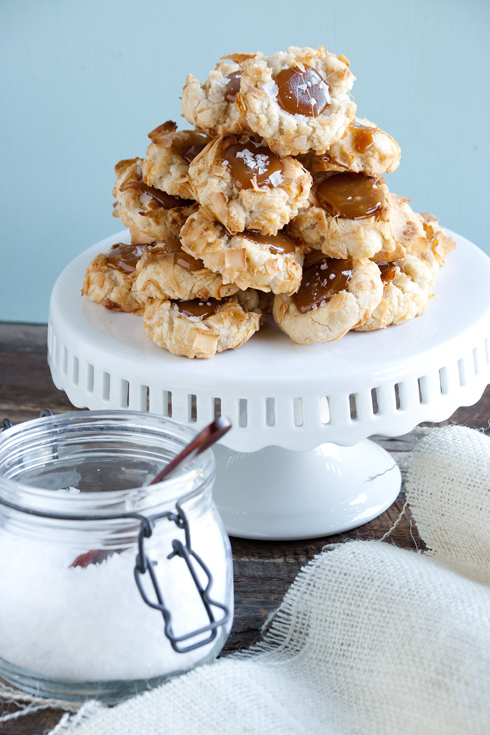 Mica – {Coconut Thumbprint Cookies with Salted Caramel]