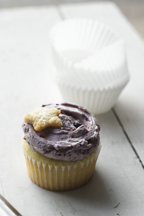For H – {Blueberry Balsamic Cupcakes}