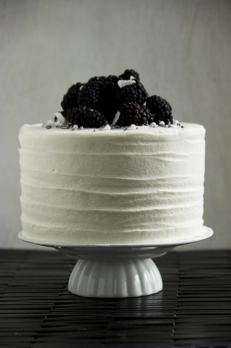 Done – {Blackberry, Coconut, Lime and Macadamia Cake}