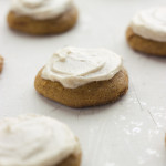 Stunt – {Soft Frosted Ginger Chunk Pumpkin Spice Cookies}