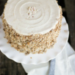 Brother – {Spiced Oat Cake with Ginger Plum Buttercream and Oat Crunch}