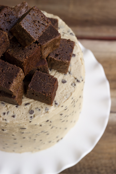 Fit – {Half Baked Fudge Brownie & Cookie Dough Cake}