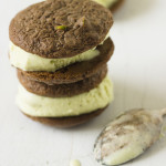 Lipstick on Pigs {Chocolate Pistachio Ice Cream Sandwiches}
