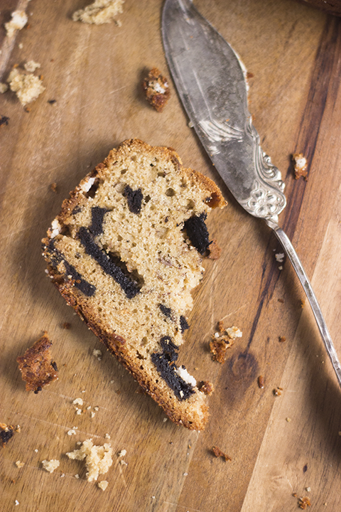 Banana Bread - with a twist! Peanut butter and Oreos make it extra special.