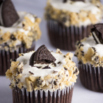 Day at the Lake – {Chocolate and Oreo Brittle Cupcakes}