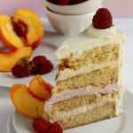 Wrap – {Peach and Raspberry Mousse Cake}