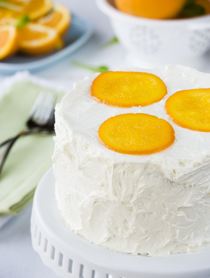 Catch Up – {Orange Syrup Cake with White Chocolate Buttercream}