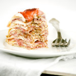 Bruise – {Strawberries, Rhubarb and Cream Crepe Cake}