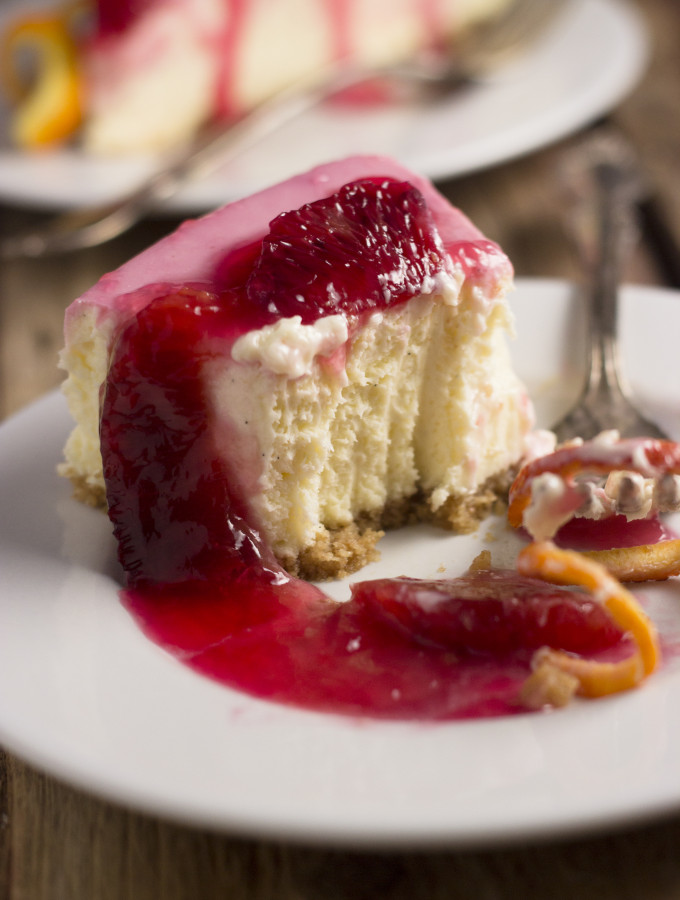 Stay – {Blood Orange Cheesecake}