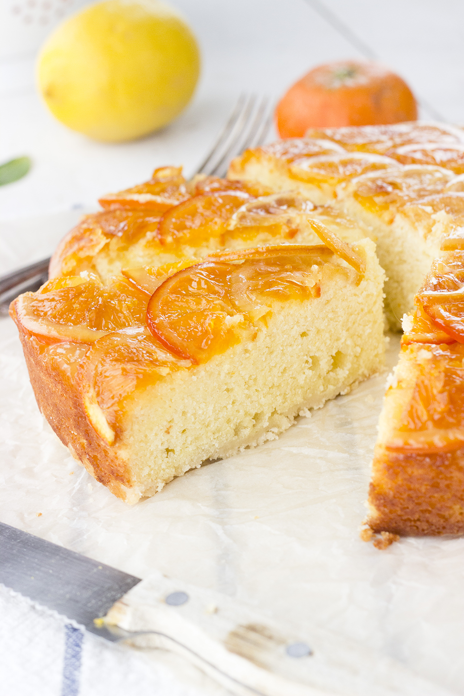 Ricotta & Citrus Upside Down Crumb Cake
