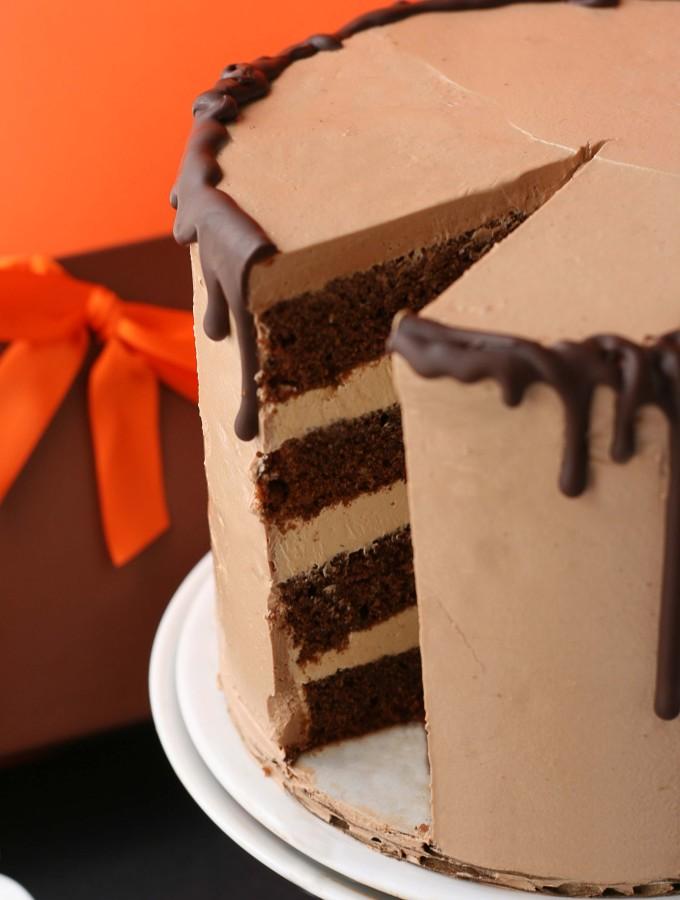 A Hot Mess – {Chocolate and Caramel Cake}