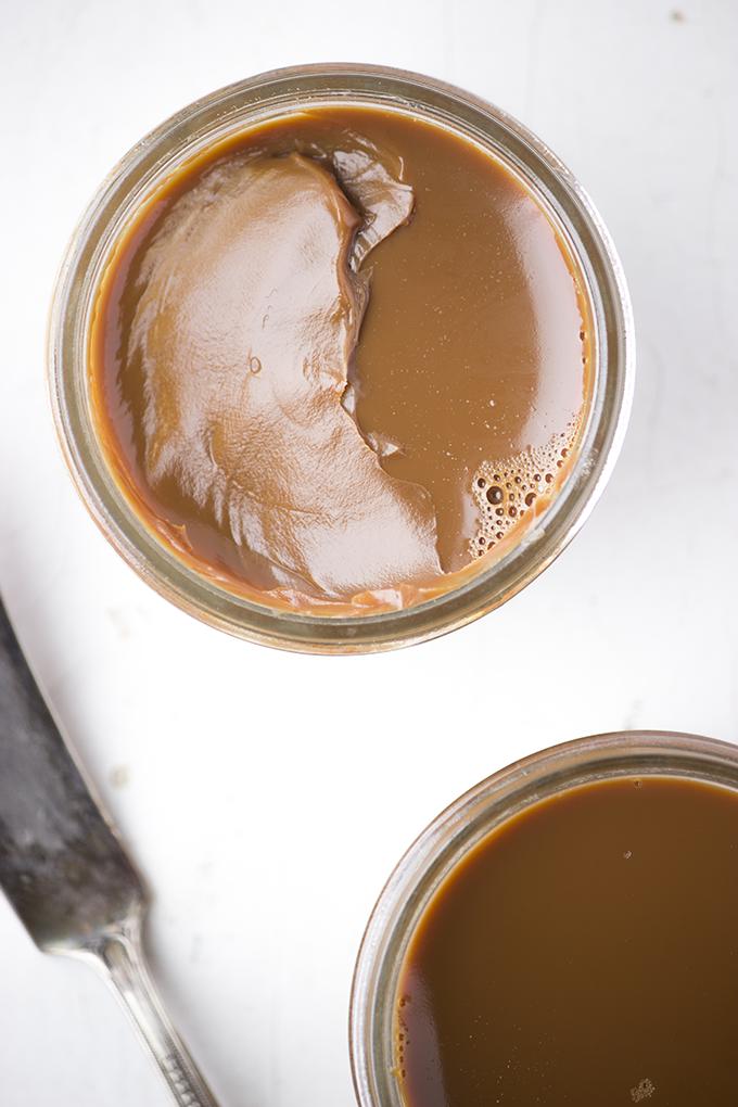 Crock Pot Dulce de Leche for a Chocolate, Pretzel, Peanut Butter, Dulce De Leche, Banana Insanity Tart