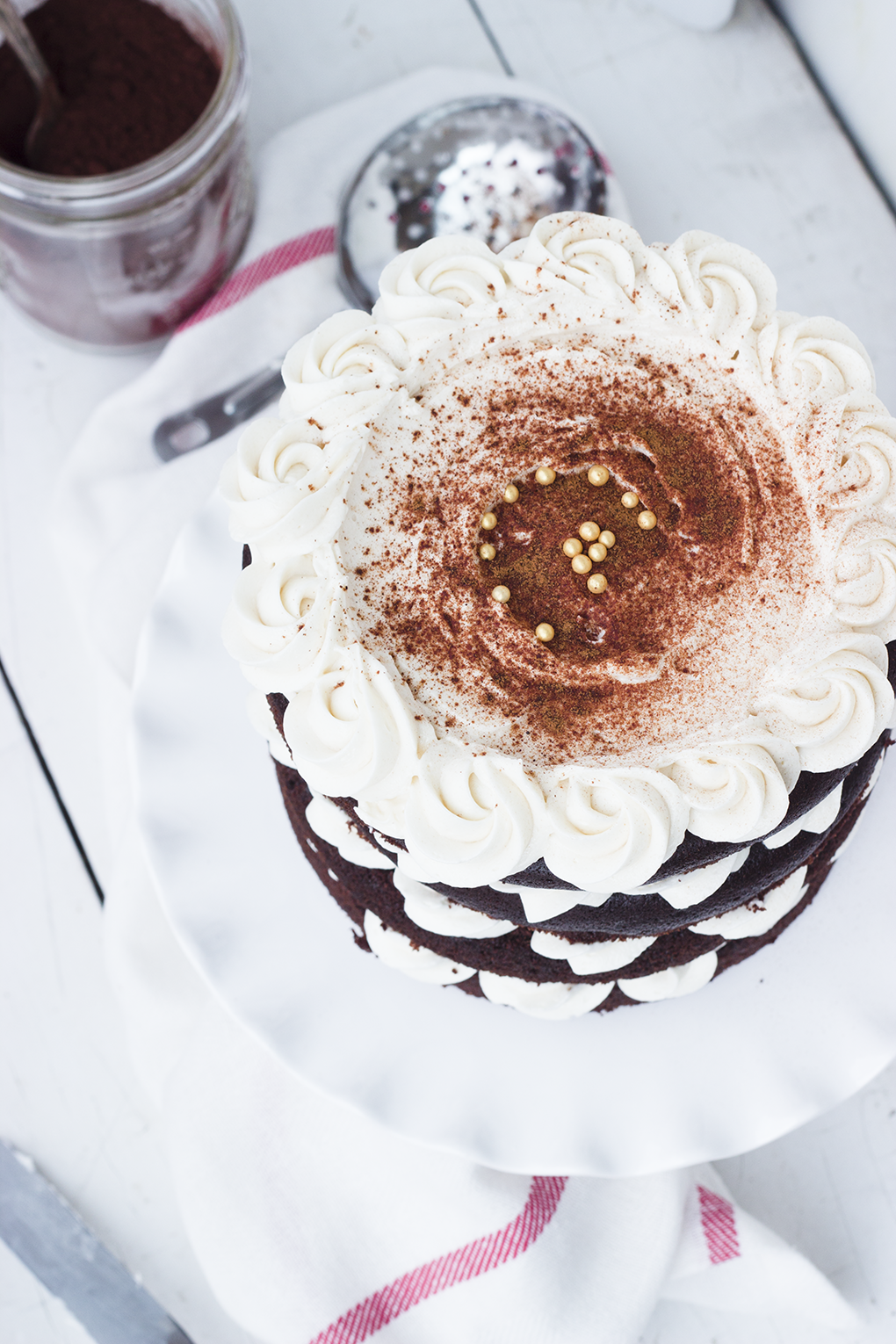 Mexican Spice Horchata Cake - Fudgy chocolate cake spiced with cinnamon and cayenne pepper, topped with horchata buttercream. Perfect for Cinco de Mayo, or whenever.