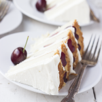 Grow – {Toasted Rice and Almond Cake with Cherries}