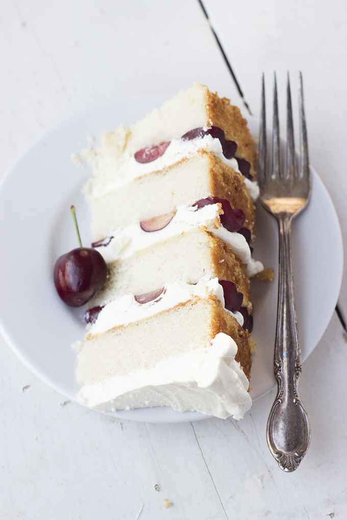 Toasted Rice and Almond Cake with Cherries - Whisk Kid