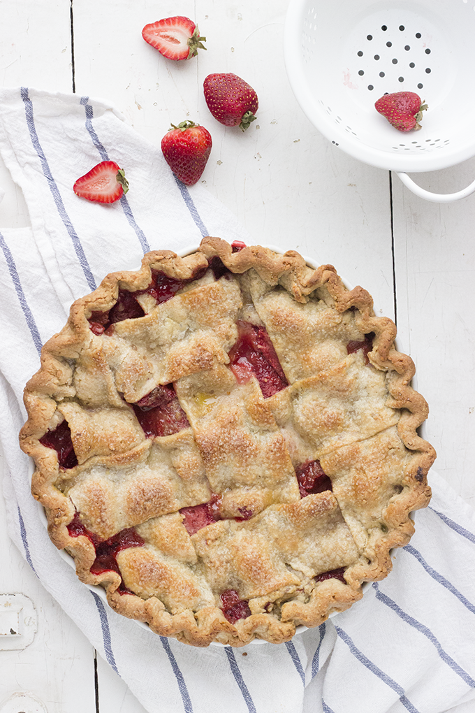 PB&J Pie. Strawberries and cinnamon in a unique peanut butter pie crust. Cool twist on a classic!