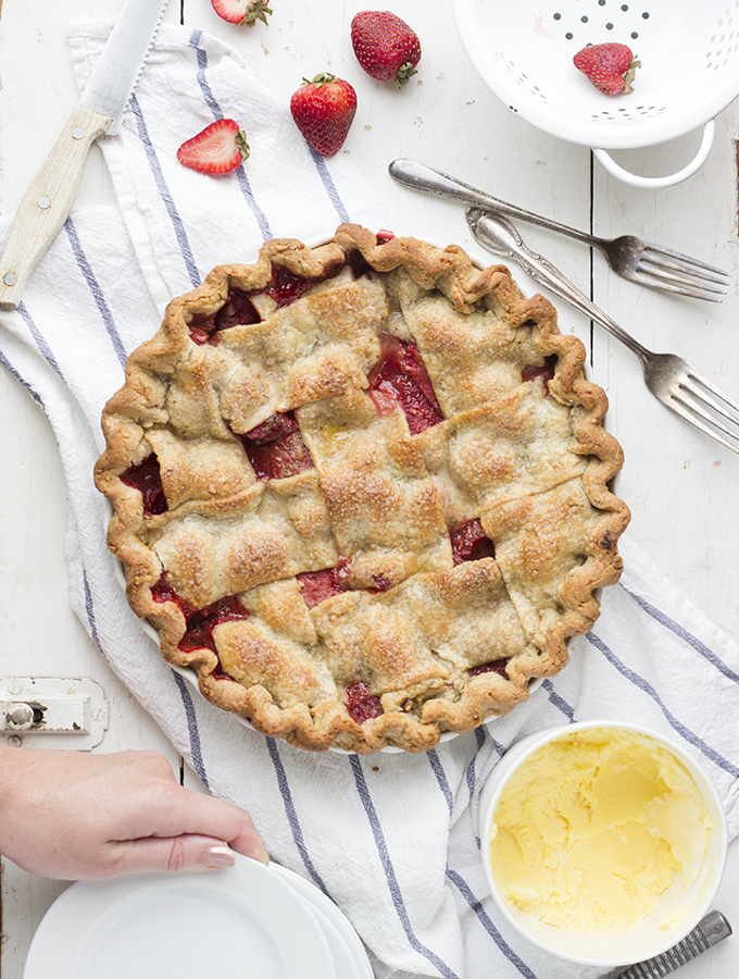 Babysitter – {PB&J Pie with Strawberries, Cinnamon, & Peanut Butter Pie Crust}