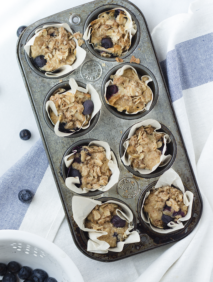 Social – {Blueberry Oat Crumble Muffins}