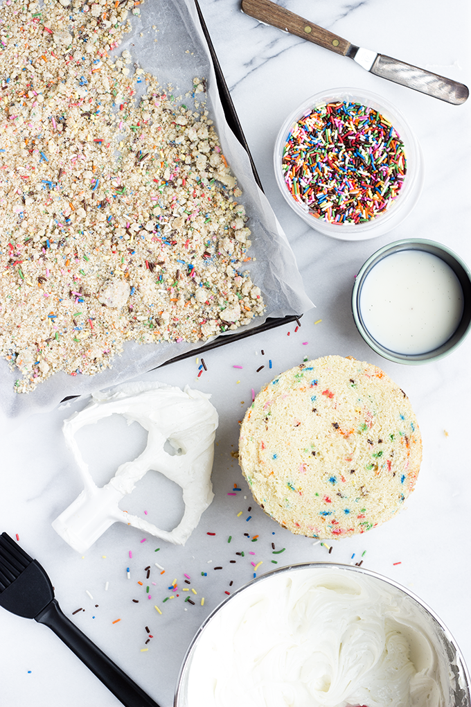Preparing a Momofuku Milk Bar Birthday Cake