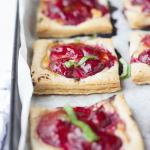 Spent – {Strawberry Tarts with Honey Balsamic Goat Cheese}