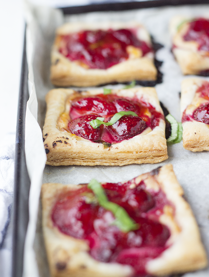 Spent – {Strawberry Tarts with Honey Balsamic Goat Cheese}