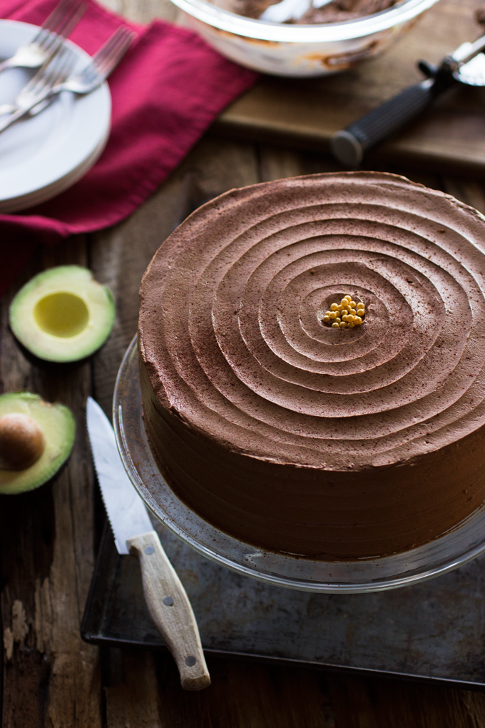 Chocolate Chile Cake with Chocolate Avocado Buttercream