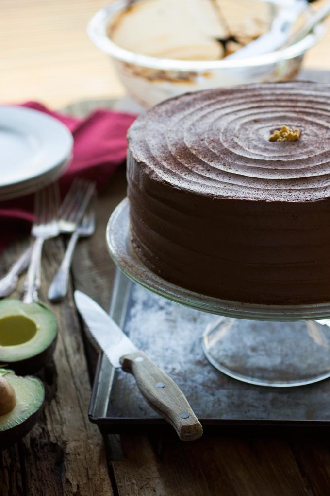 Chocolate Chile Cake with Chocolate Avocado Buttercream