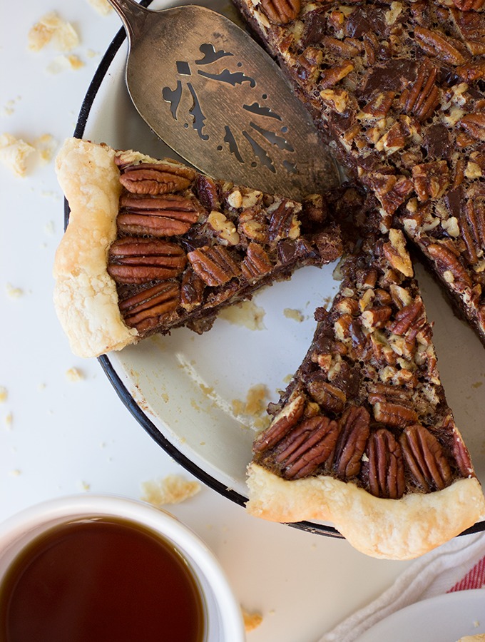 Learn – {Chocolate Bourbon Pecan Pie}