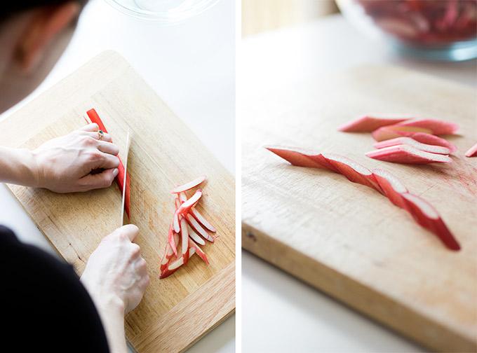 How To Make a Rhubarb Rose