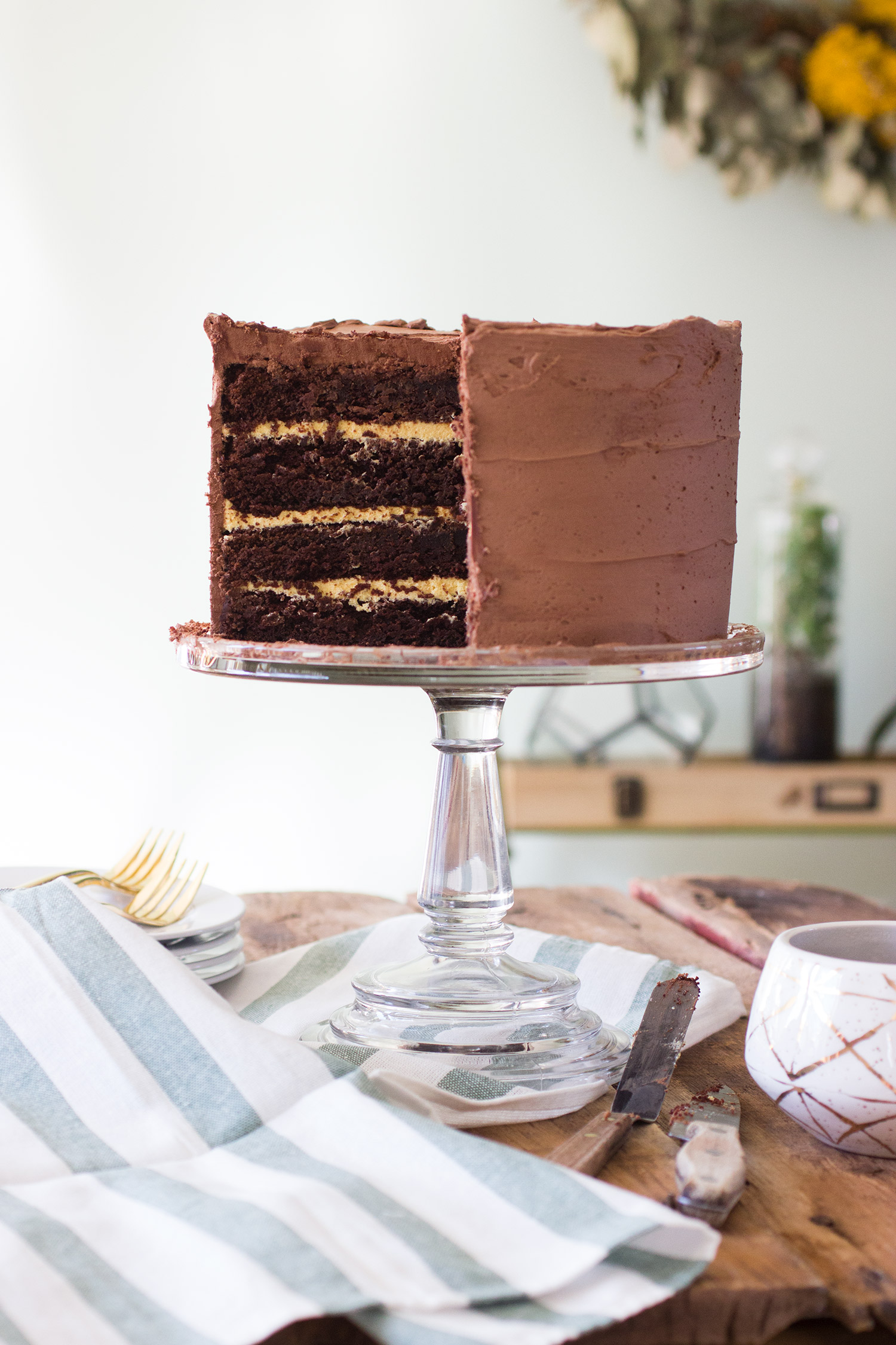 Chocolate-Covered Mango-Passionfruit Cake