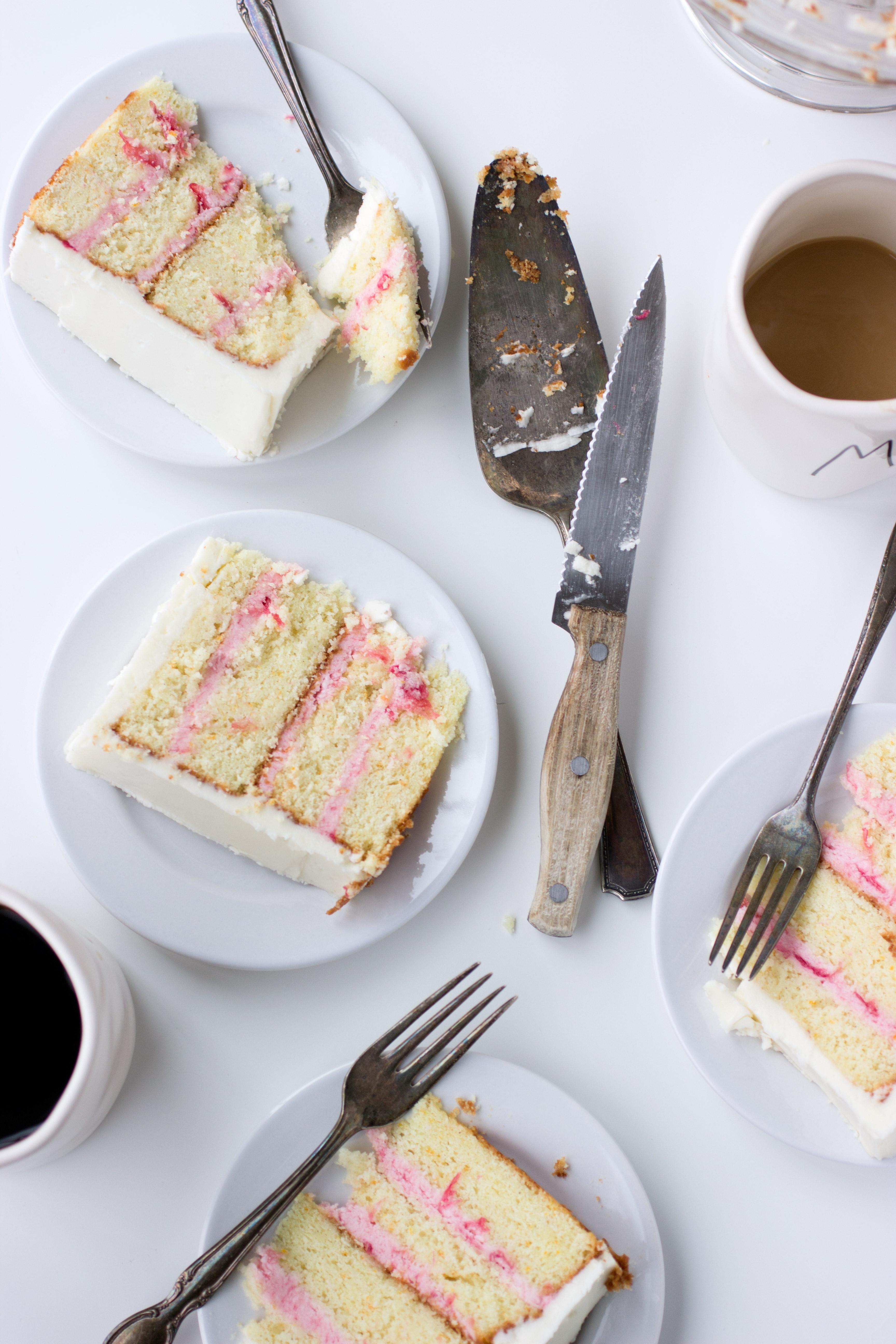 Rhubarb & Cardamom Layer Cake